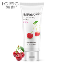 Horec Cherry essence Moisturizing Facial Cleanser Deep Cleansing Whitening Face Skin Oil Control Foam Cleanser Face Skin Care vlanse milk face wash facial cleanser nourishing cleanser foam moisturizing whitening face cleaner marks deep clean cosmetics