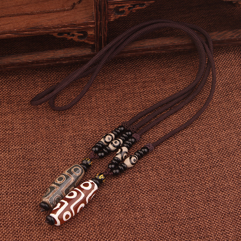 8 Eyes Dzi Beads Necklace 4