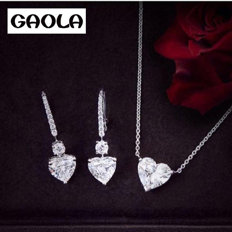 1b082bc2ae297 2016 تصميم الأزياء الجديدة العروس مجوهرات الزفاف مجموعة ، aaa cz كريستال  قلادة أقراط للنساء GLD0889 GLE5425