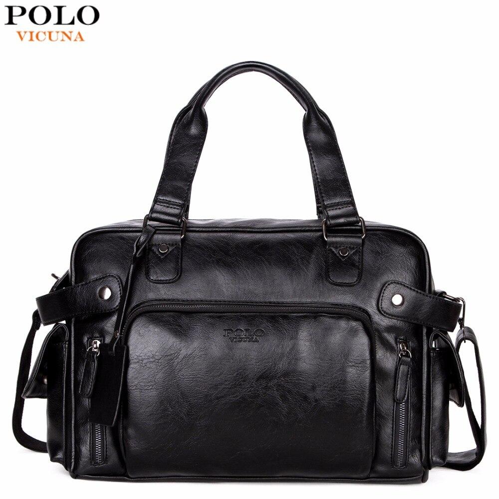 Викуньи поло кожаная мужская дорожная сумка большой емкости модная дорожная сумка брендовая высокое качество универсальная Повседневная ...