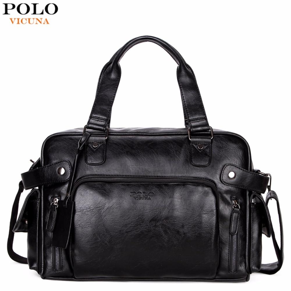 VICUNA POLO Leather Men Travel Bag Big Capacity Fashion Travel Handbag Brand High Quality Multifunction Casual Shoulder Bag