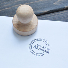 Creative Personalized Custom-Made Wooden Stamp