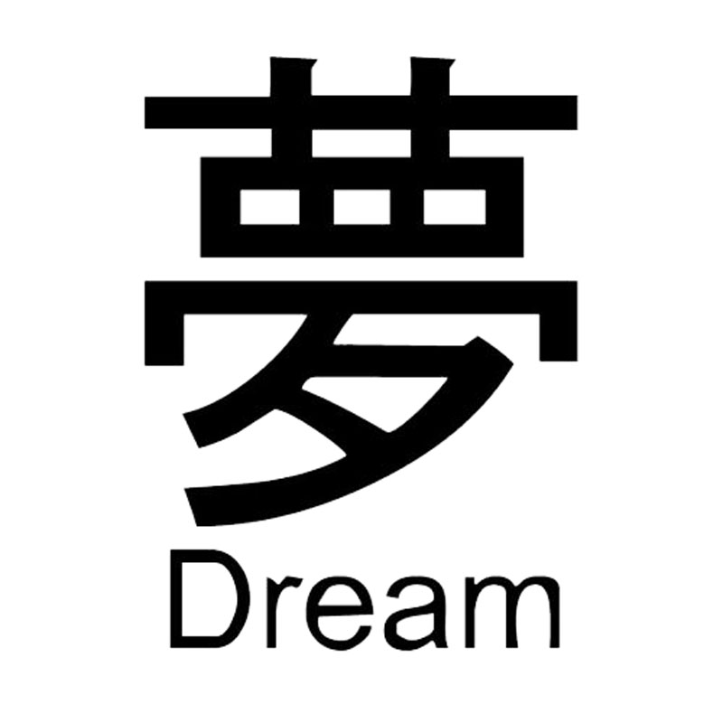 91124cm Chinese Symbols Characters Words Dream Funny Fashion Car