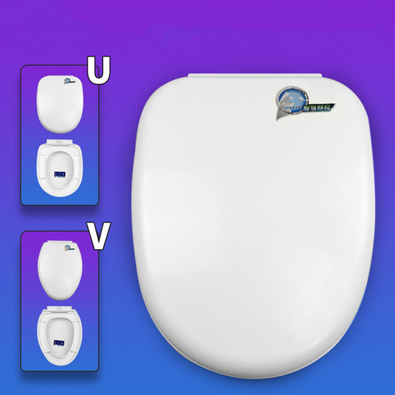 Toilet Seat Cover Damped damping Toilet Lid plastic Round Tip Cover Thickened V-type U-type Toilet Bowl Covers Can Use 50 years lid