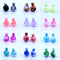 Free Shipping Fashion Hot Selling Imitation Porcelain Design Resin Ball Front And Back Big And Small Double Stud Earrings 12pair