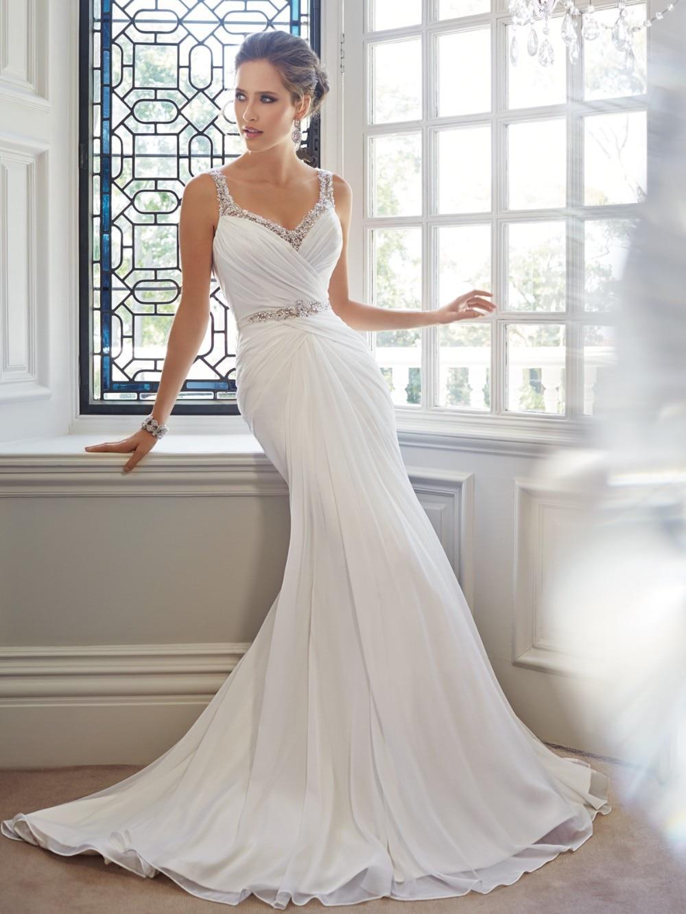 Aliexpress.com : Buy Mermaid White Chiffon Sexy Backless Wedding ...