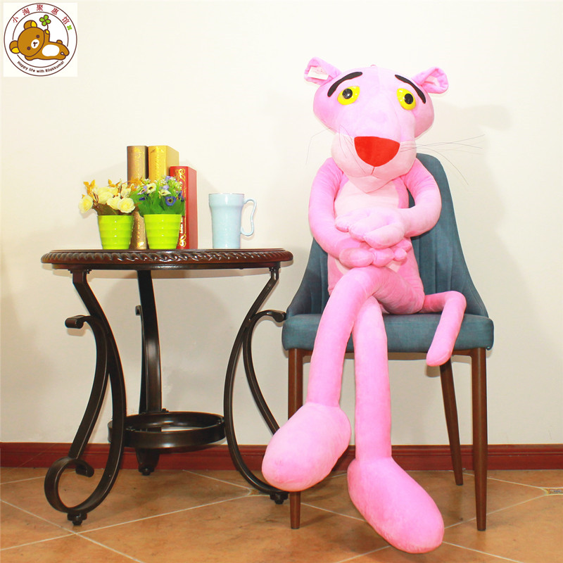 large 150cm pink panther plush toy lovely panther doll soft throw pillow birthday gift b0867 купить