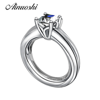 Customized 1ct Princes Cut Center Solitaire Wedding Ring