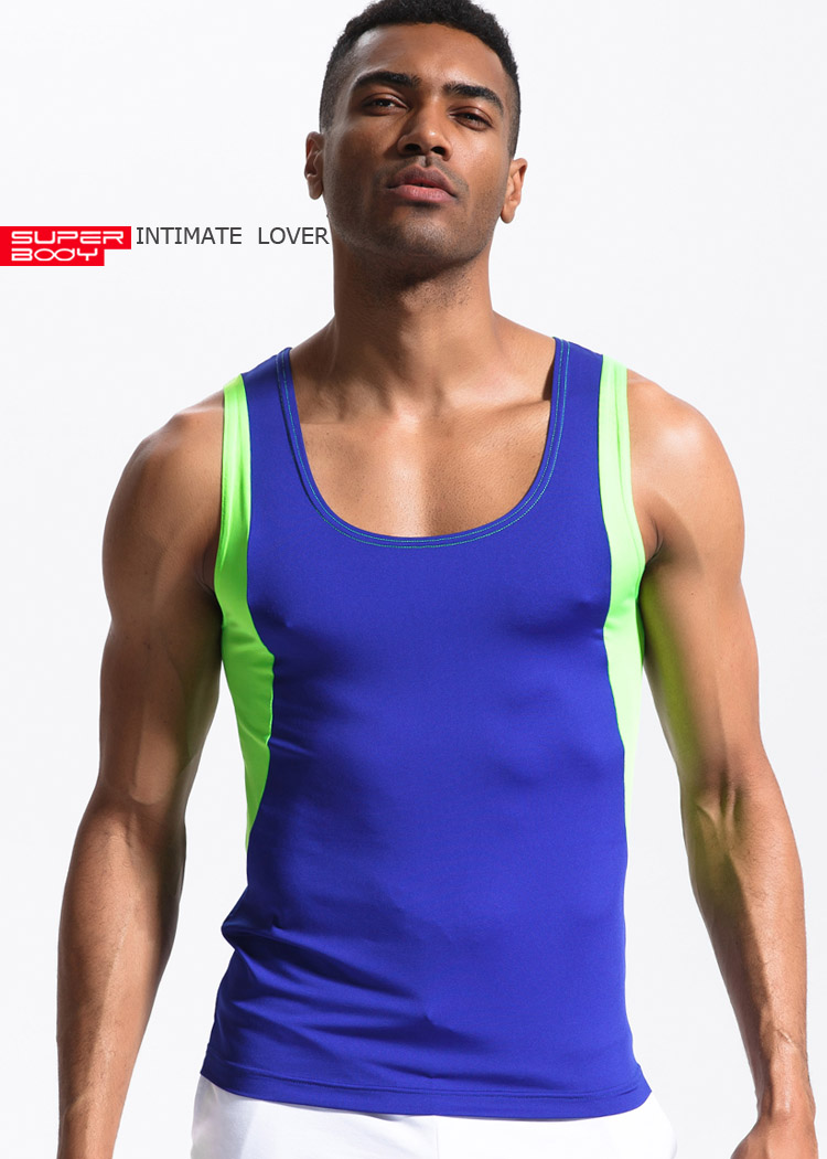 944346858ff65 High Elastic Polyester Men Quick-drying Sports Shirt Tanks Top Wicking Gym  Running Training Athletic Vest bodybuilding tank top