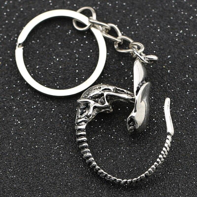 AVP брелок Alien V Predator covention, брелок для ключей Alien Xenomorph Queen Prometheus, Винтажное кольцо для ключей, ювелирные изделия из фильмов, оптовая продажа