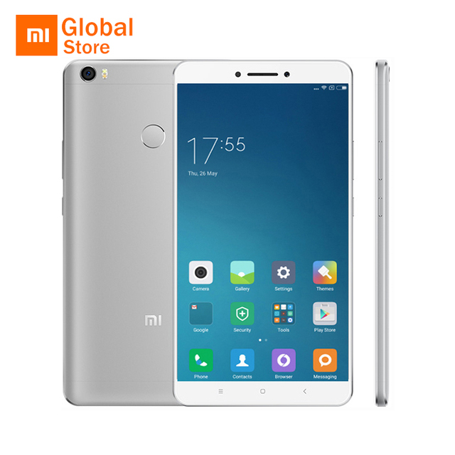 """Оригинал xiaomi mi max mimax 6.44 """"4850 мАч Мобильный Телефон Snapdragon 652 Окта основные 1920x1080 P 4 ГБ RAM 128 ГБ ROM Отпечатков Пальцев ID"""