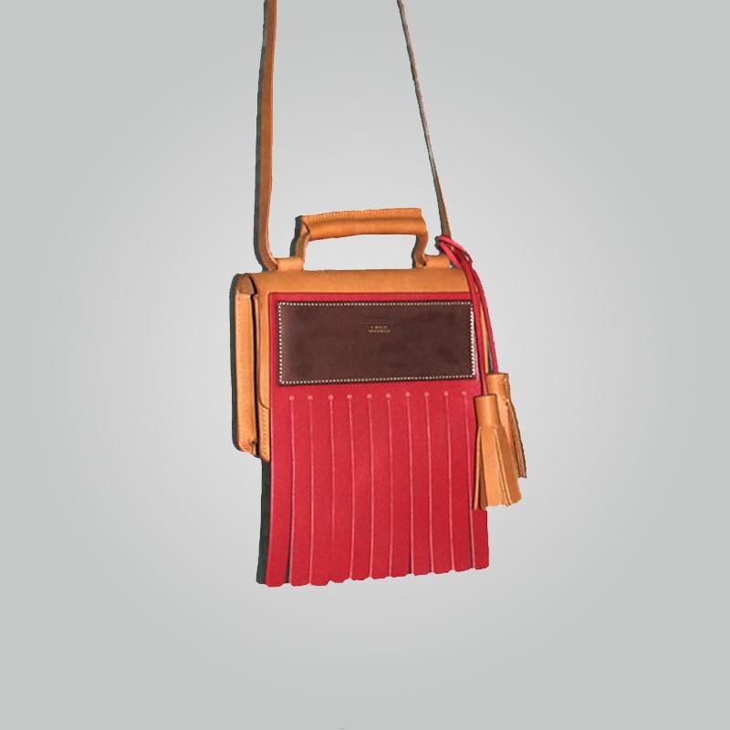 2018 new model color bloced bag fashion handbags acnc
