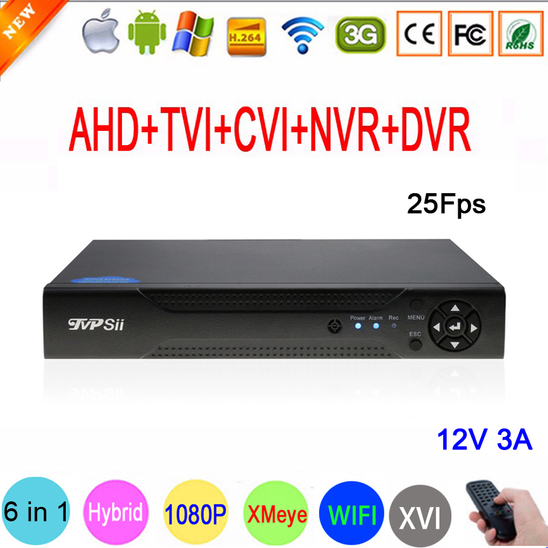 1080P,960P,720P CCTV Camera Xmeye 1080N 25fps 16 Channel 16CH Hybrid WIFI 6 in 1 TVI CVI NVR AHD DVR Video Recorder FreeShipping 16ch 5 in 1 ahd cvi tvi dvr nvr 16 channel 1080n security cctv digital video recorder 1080p onvif