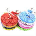 Colorful Flat Braided Woven 8 pin 1M/2M/3M USB phone Data Sync Charger Cable Cord Wire for iPhone 5 5s 6 6Plus 6s 7 Plus XEDAIN