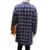 Homens primavera Outono Casaco Longo Slim Fit Trincheira Moda casaco Tendência de Design Casual Xadrez Dos Homens Blusão Outwear Plus Size 5XL