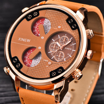 XINEW Luxury Man Watches Reloj Hombre Aviator White Automatic Mechanical Date Day Leather Wrist Watch 2018 Bayan Kol Saati