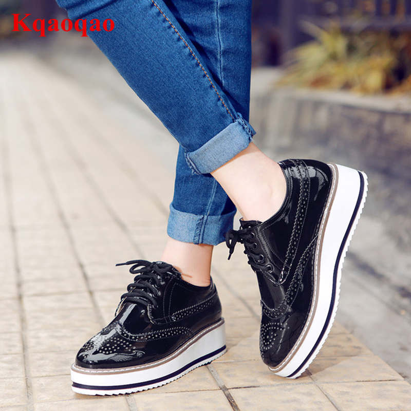 купить Front Lace Up Women Casual Shoes Low Top Round Toe Spring New Fashion Shoes Chaussures Femmes Wedges Brand Star Runway Shoes недорого