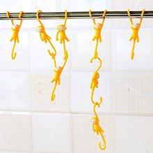 5 шт. обезьяна S Форма Кухня Ванная комната Висячие Крючки, милый мультяшный крючок вешалка для полотенца 12 см