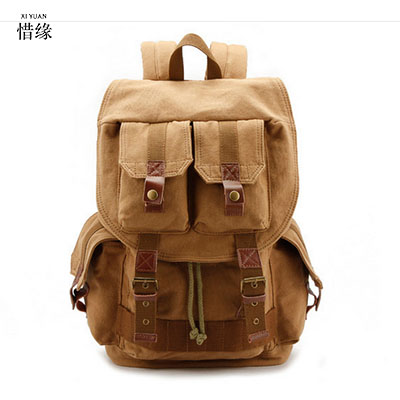 XIYUAN BRAND New shoulder casual retro photography bag   SLR light  Anti-theft fashion camera backpack Khaki ArmyGreen gifts fly leaf camera bag backpack anti theft camera bag with 15 laptop capacity for dslr slr camera