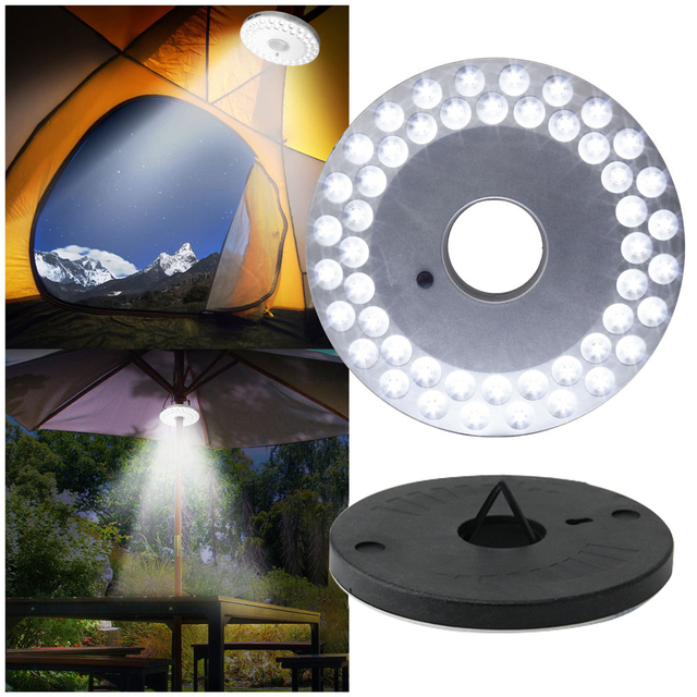 48 LED Patio Umbrella Light Garden Terrace Decoration Lamp Parasol Lighting  Camping Tent Lamp Light Yard