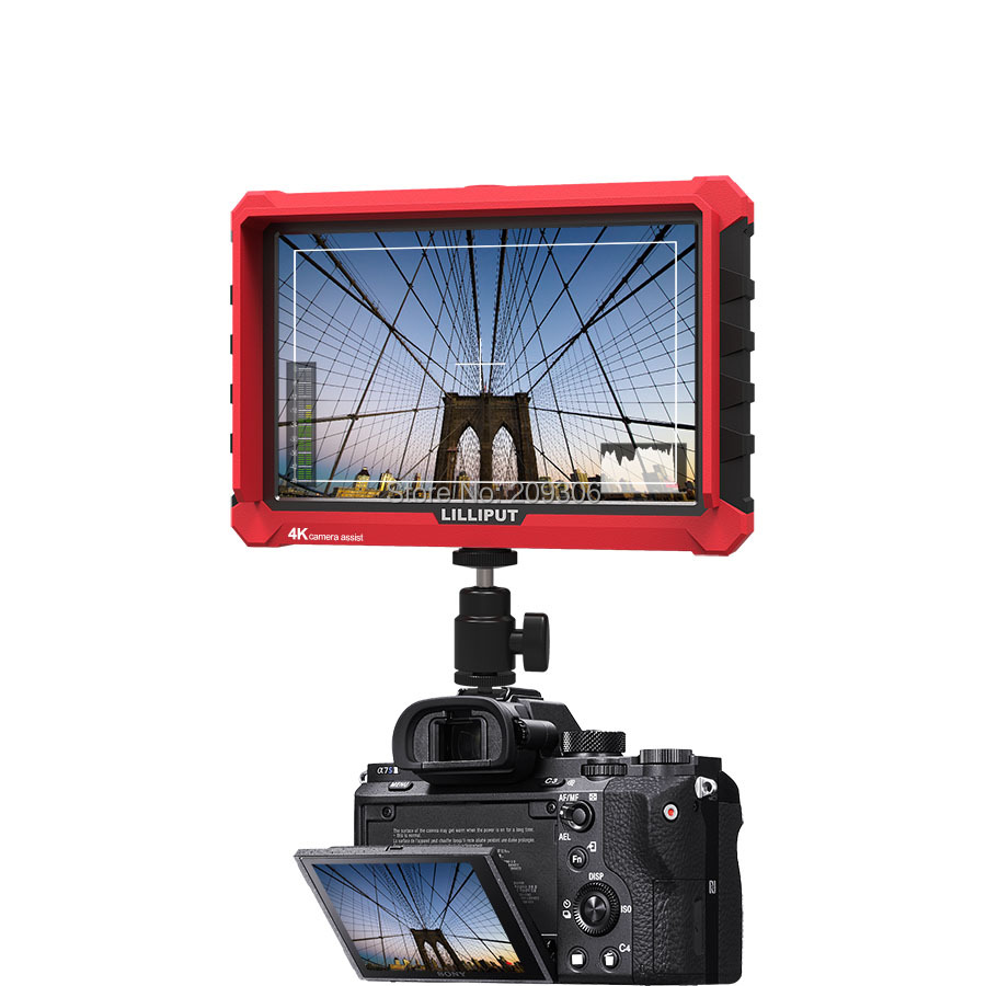 Lilliput A7S 7 Ultra Slim IPS Full HD 1920 1200 4K HDMI On-camera Video Field Monitor for Canon Nikon Sony DSLR Camera Video
