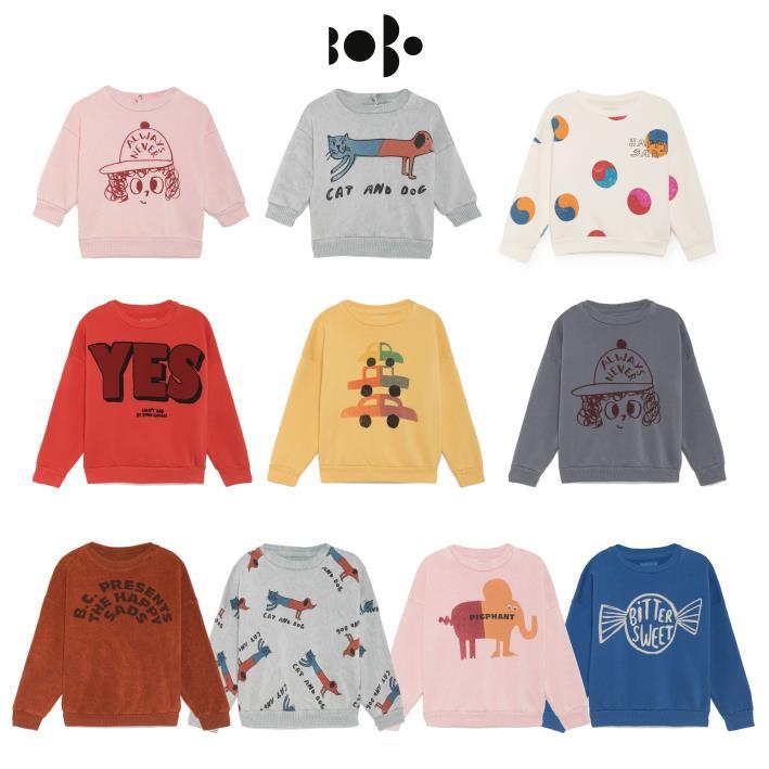Bobo Choses Autumn Winter Kids Clothes Long Sleeve T-shirt Cartoon Animal Boys Sweatshirts Baby Girls Sports Tees Tops