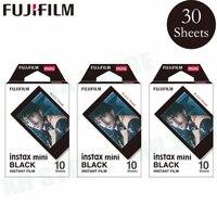 Fujifilm Instax Mini 8 9 فيلم أسود الإطار فوجي ورق طباعة الصور الفورية 30 ورقة ل 70 7s 50s 50i 90 25 حصة SP-1 2 كاميرا