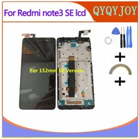 152mm AAA Q LCD For Xiaomi Redmi Note 3 Special Edition Lcd Display Screen For Redmi Note 3 Pro SE Aseembly Free Shipping
