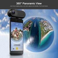 2018 Insta360 один 4 К 360 панорамный Камера VR видео Спорт действий Камера 24MP пуля время 6 оси гироскоп трансляция для iPhone Cam