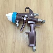цена на SAT1202 polyurethane spray coating pneumatic paint guns automotive painting car wheel covers silver mirror chrome plate paint