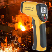 Best Buy Digital Infrared Thermometer Professional Tester Meter Sensor IR LCD Display Device HT-812 Range -50 To 450 Degree Celsius