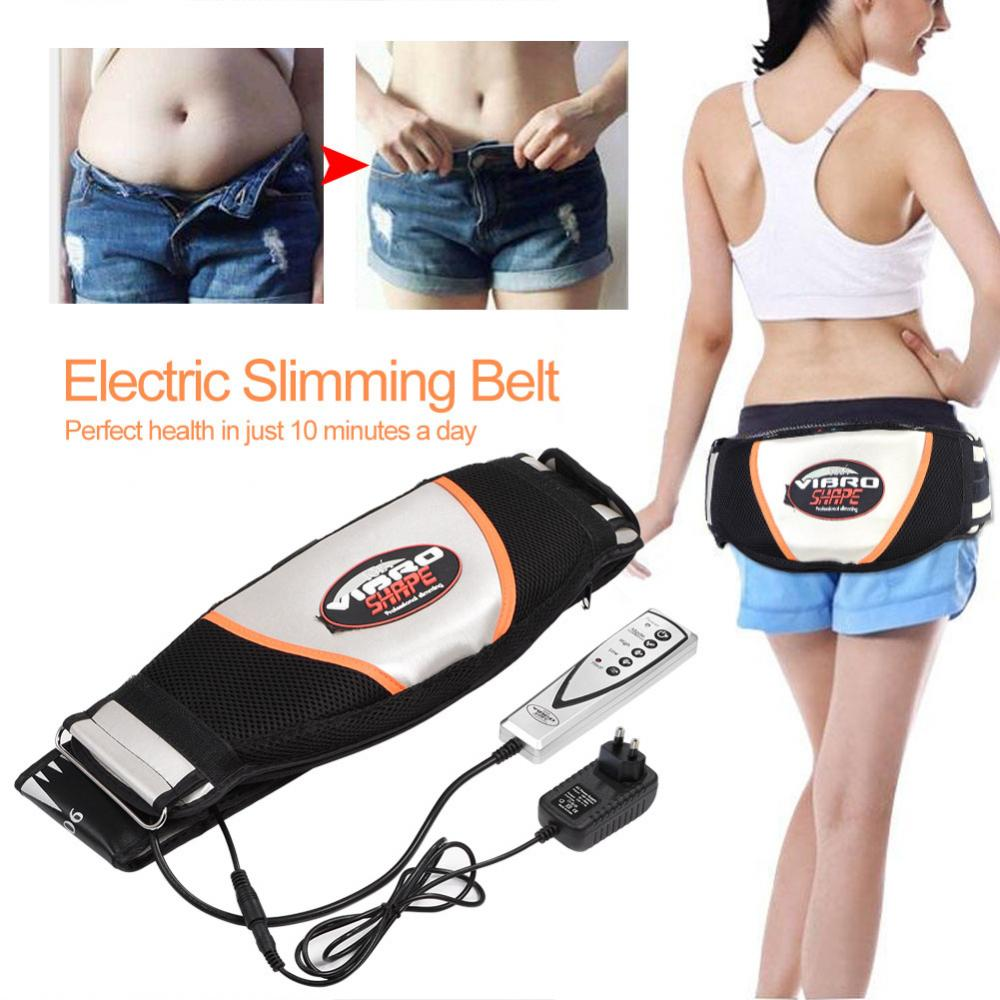 Abdominal Massage Electric Vibrating Massager Slimming Belt Burning Fat Weight Losing Vibration Health Care EU Plug-in Massage & Relaxation from Beauty & Health    1