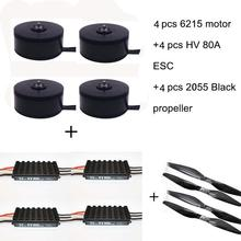 цена на 4PCS 6215 170kv Brushless Outrunner Motor with HV 80A ESC 2255 Propeller for RC Aircraft Plane Multi-copter