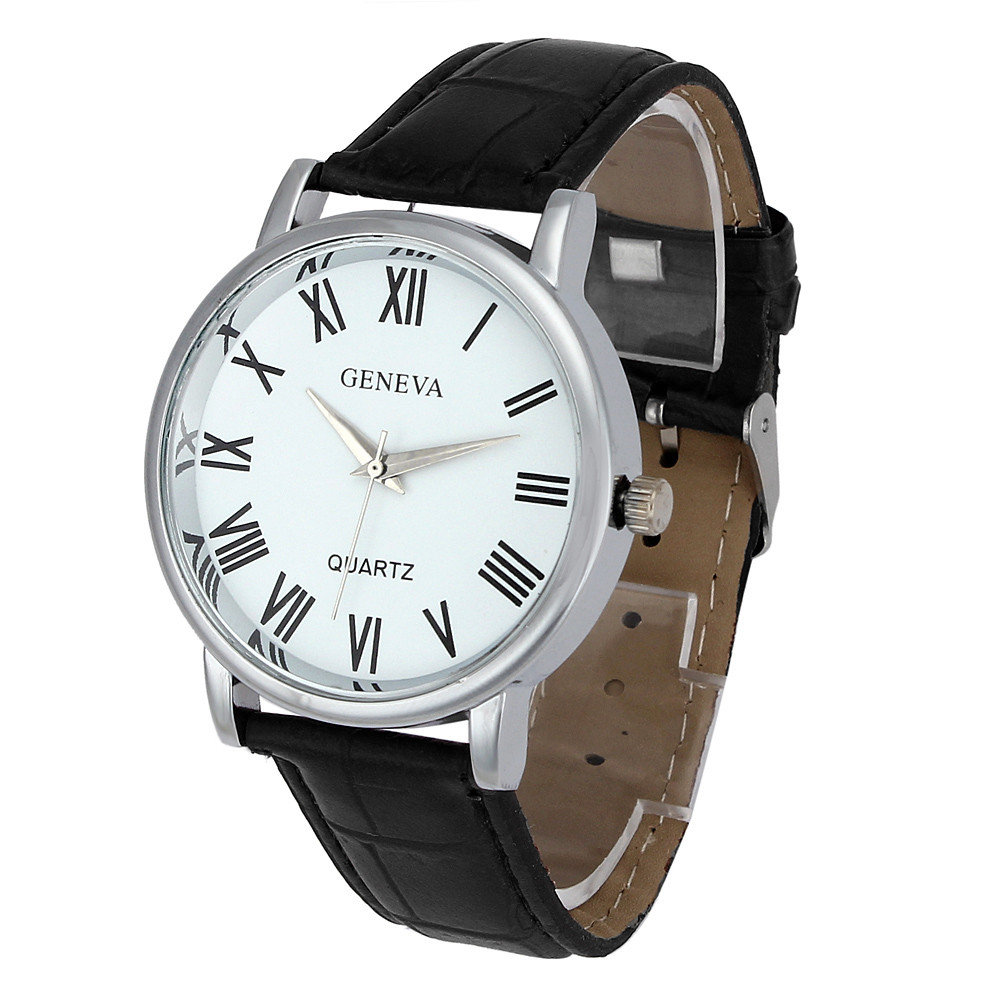 New Brand Roman Numerals Watch Men's Leather Analog Quartz Watch Clock Men Luxury Business Wrist Watch Relogio Masculino #Ju migeer relogio masculino luxury business wrist watches men top brand roman numerals stainless steel quartz watch mens clock zer