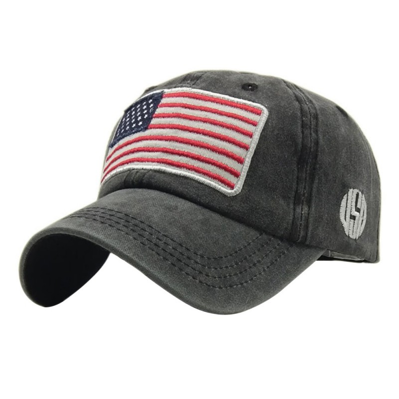 The American flag   Baseball     caps   fashion hat For men women The adjustable cotton   cap   Denim   cap   hat