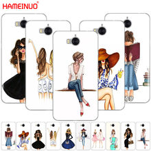 HAMEINUO Beautiful Love Dress Shopping Girl cell phone Cover Case for huawei honor 3C 4X 4C 5C 5X 6 7 Y3 Y6 Y5 2 II Y560 2017(China)