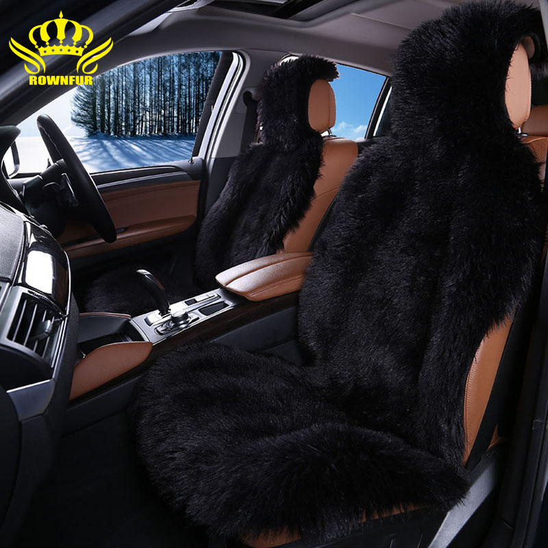 2 pcs high quality faux fur front car seat covers for car seats auto covers universal fit most. Black Bedroom Furniture Sets. Home Design Ideas