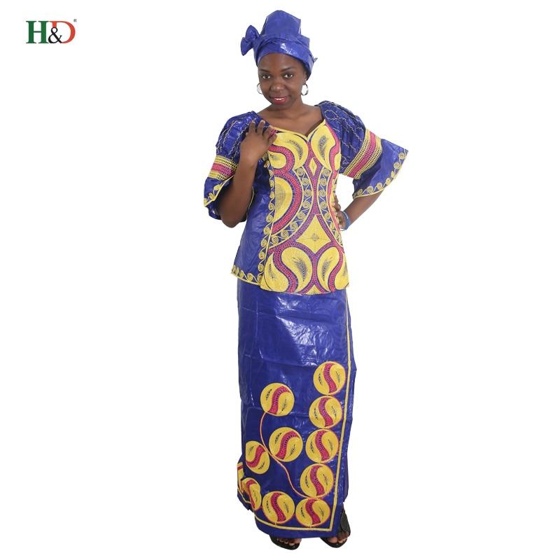 H & D Semua gaya afrika mengetuk pakaian sulaman tradisional untuk - Pakaian kebangsaan - Foto 5