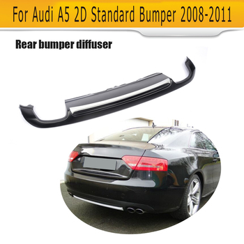 Matt black painted PU Rear Bumper Diffuser for Audi A5 Coupe Standard Only 2008-2011 Non-Sline jc 20130709 1