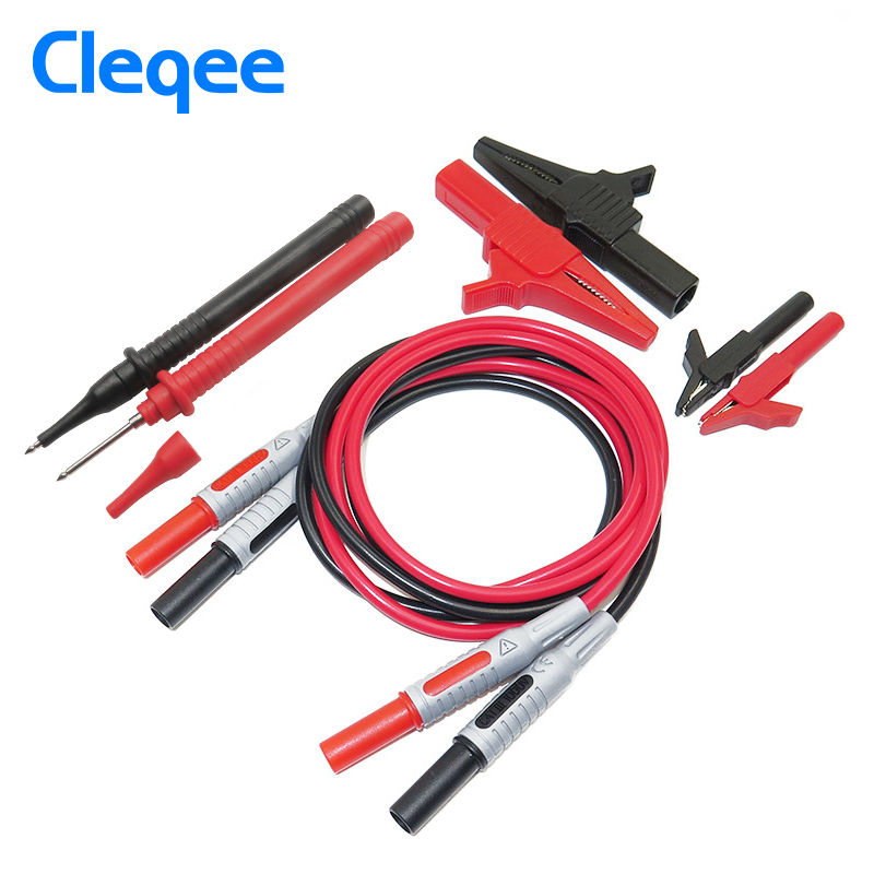 Cleqee P1600A 8 in 1 Electronic Specialties Test Lead kit Automotive Test Probe Kit Universal Multimeter