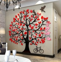 Three-dimensional wall stickers Tree Modern Home decor Living room TV wall Acrylic 3d Wall Sticker Christmas decoration Gifts