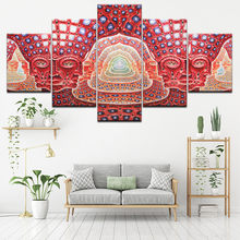 Canvas Painting Wall Art Modular HD Prints 5 Pieces Psychedelic Face Pictures Tool Alex Grey Metal Music Poster Home Decor Frame(China)
