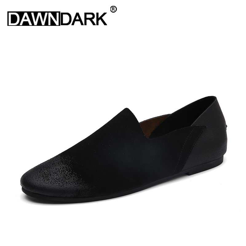 Men   Leather   Casual Loafers Slip on Male Cow   Suede   Flat Shoes Spring Summer Man Moccasins Shoes Fashion Zapatos Hombre Big Size