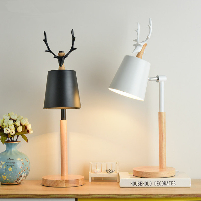 Led Table Lamp With Metal Lampshade