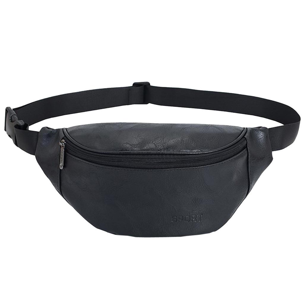 Engagement & Wedding Vintage Neutral Outdoor Zipper Leather Messenger Bag Sport Chest Bag Waist Bag 30