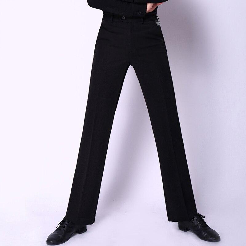 48cm Black Pencil Pants For Men Salsa Dress Tango Chacha Rumba Professional Men Latin Costumes Ballroom Dancing Trousers BL1316