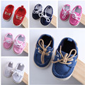 2017 new style baby girl and boy shoes fashion solid colors lace-up casual soft bottom first walker shoes 7 colors