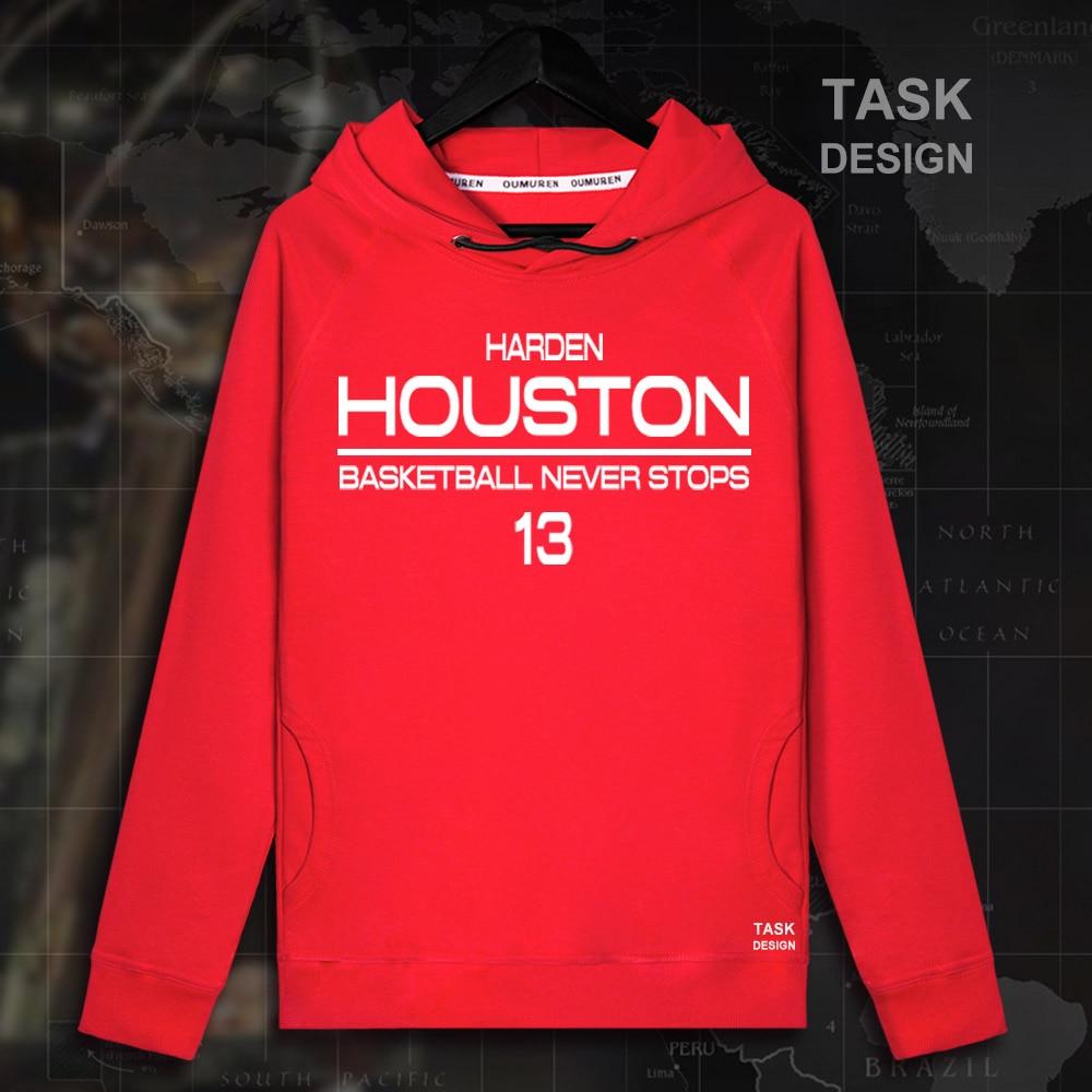James Harden Men Thin section pullovers hoodies sweatshirt clothes streetwear tracksuit Houston USA basketballer star Rockets