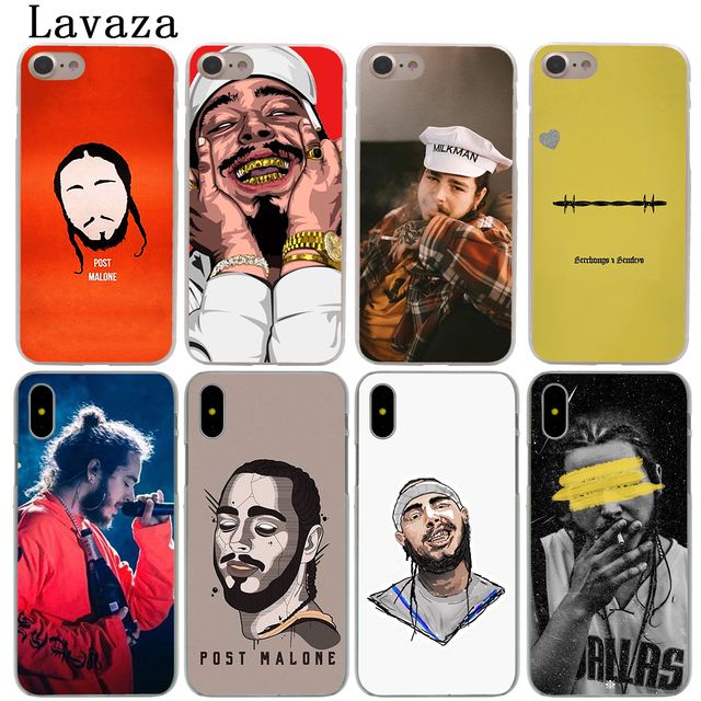 size 40 ae245 6965f US $2.55 |Lavaza Post Malone Hard Phone Shell Case for Apple iPhone XS Max  XR X 6 6S 7 8 Plus 5 5S SE 5C 4S 10 Cover Cases-in Half-wrapped Case from  ...