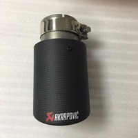 Akrapovic Auto Exhaust End Tips Exhaust Pipe with Carbon Fiber INLET 57mm, OUTLET 101mm